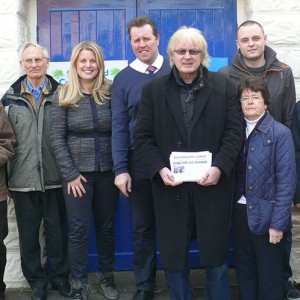 Emma campaigning in Calverton last week with Mark Spencer MP and Conservative activists
