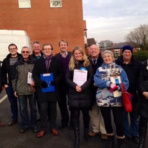 Campaigning in Amber Valley with Nigel Mills MP