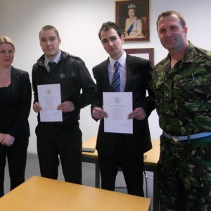 At-Leicester-Recruiting-office-with-new-recruits-swearing-in-cermony