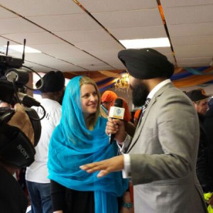 At Sikh festival in Leicester