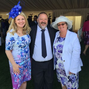 Emma at a Buckingham Palace Garden Party with Cllr Ozzy O'Shea and his wife Jenny