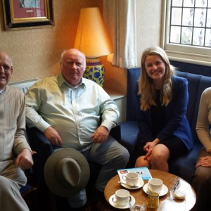 Buxton Coffee Club, from left to right, Tony-Lawton, Bill-Barratt, Emma McClarkin MEP, Pam Lawton