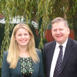 Emma with Head teacher Martin Thacker