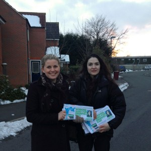 Emma Campaigning with Cllr Angelique Foster