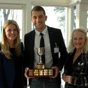 Emma presenting a trophy at Uppingham Business Club in Rutland