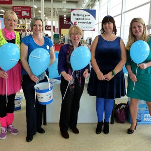 At the Diabetes UK stall at Tesco's Long Eaton with Maggie Throup, Parliamentary candidate for Erewash