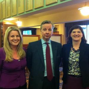 Emma McClarkin MEP, Nicky Morgan MP, Michael Gove MP