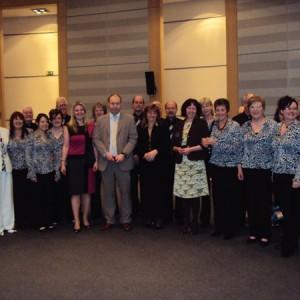 EPRUI Members with Ospreys Choir