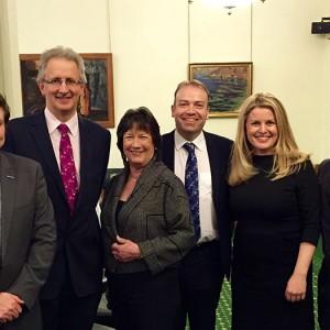 Emma & Andrew with East-Mids MPs Andrew-Bingham, Pauline Latham, Chris-Heaton Harris and Andrew Bridgen