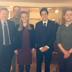 Emma with Cllr Martin Thacker, Paul Dale, Marcus Linsey, and Lee Rowley