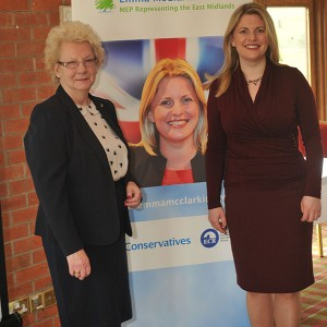 Emma and Maureen Stockwood, East Midlands Regional Chair of the CWO at the Conservative Women's Organisation Conference at Morley Hayes