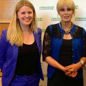 Emma McClarkin MEP with Joanna Lumley