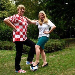 Emma & Ruza Tomasic MEP ahead of the England vs Croatia World Cup match