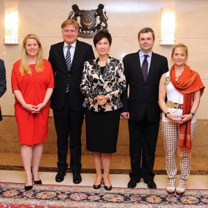 Emma on a delegation to Singapore to discuss Free Trade Agreement negotiations with the Singaporean Minister