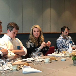 Emma speaking at a lunch hosted by Allied for Startups