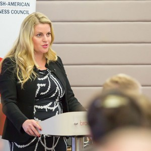 Emma speaking at the British-American Busines Council