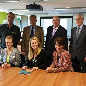 Emma visiting Holbeach, Lincolnshire where she met with members from the council to discuss flood defences and European funding