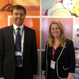 Emma with Simon Wildash on visit to Paynes Packaging Nottingham