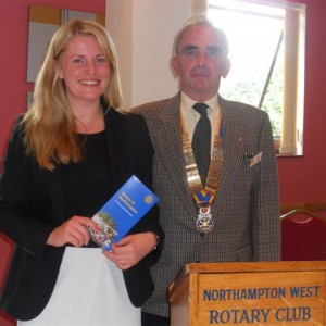 Emma-with-Tom-Green-President-of-Northampton-West-Rotary-Club