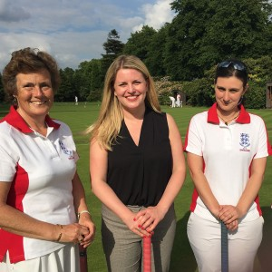 With England ladies Beatrice and Miranda