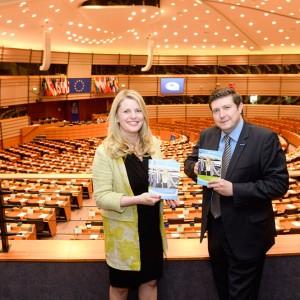 Emma McClarkin and Andrew Lewer publishing EU Funding booklet ( June 2015)