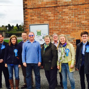 Emma with Heather Wheeler and team campaigning in Hartshorne, South Derbyshire