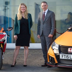 Emma at Vertu Honda, Grantham (December 2015)