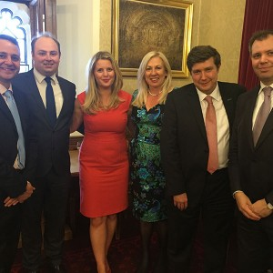 Emma and Andrew Lewer MEP with new East Midlands MPs Alberto Costa (South Leicestershire), David Mackintosh (Northampton South), Amanda Solloway (Derby North) and Ed Argar (Charnwood) at the House of Lords.