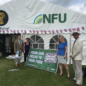 Emma with Karl McCartney and NFU Lincs reps