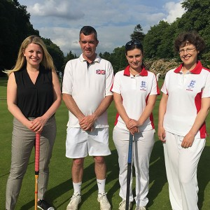 With England Women's Croquet Team and coach