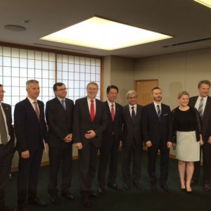 Emma with the International Trade Committee delegation in Japan (November 2015)