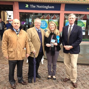 Campaigning in Newark with Cllr Tony Robert and Patrick Mercer MP