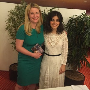 Emma with Katie Melua at the Friends of Music dinner