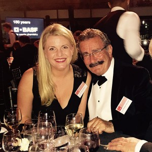 Emma with Lord Robert Winston at the BASF Dinner at London's Science Museum.