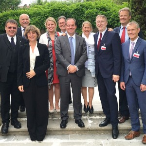 MEPs on the International Trade Committee with the EU Ambassador to the WTO