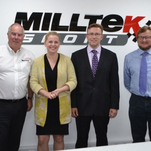Emma visiting Milltek Sport in Illkeston ( September 2015)