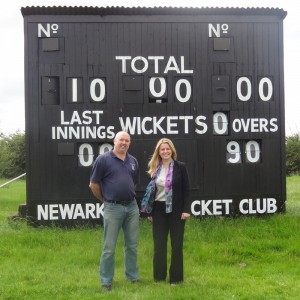 Emma visiting Newark Cricket Club
