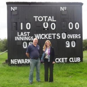 Emma visiting Newark Cricket Club