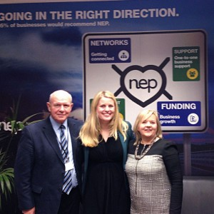 Emma with Chairman John Markham and Chief Executive Jo Lapin at her recent visit to the Northamptonshire Enterprise Partnership.