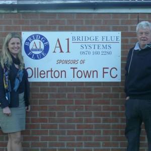 Emma at Ollertonm Football Club