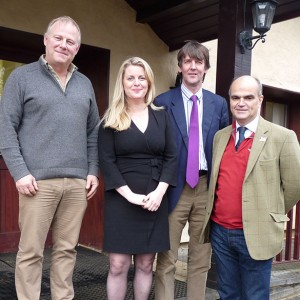 Emma's visit with the NFU at Loddington. Emma is pictured with Phil Jarvis, Simon Fisher and Peter Gadd