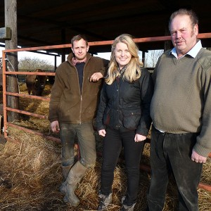 Emma's visit to the Bison farm, Bouverie Lodge, Nether Broughton