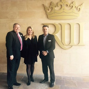 Emma's visit to the Richard III Visitor Centre in Leicester with Director Iain Gordon and Martin Traynor, chairman of the Board of Trustees.