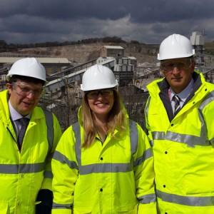 Local Politicians visit Tunstead Quarry