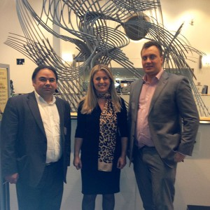 With Cllr Daniel Grimley and Jon Humberstone visit to EP