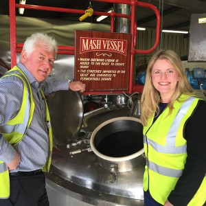 Emma at Everards Brewery, Leicestershire  (October 2015)