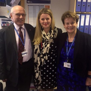 Emma with Fergus Macdonald and Victoria Bishop from the Sir Christopher Hatton School ( December 2015)