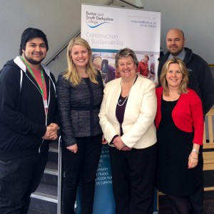 With Heather wheeler visiting burton & South Derbyshire college