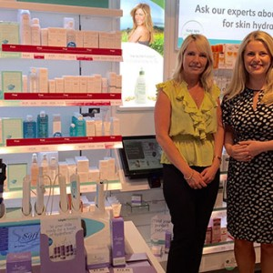 Emma with Kim Gittings, Store Manager at Lloyds Pharmacy in Blaby.