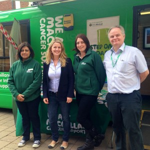 With Macmillan Cancer Support in Loughborough
